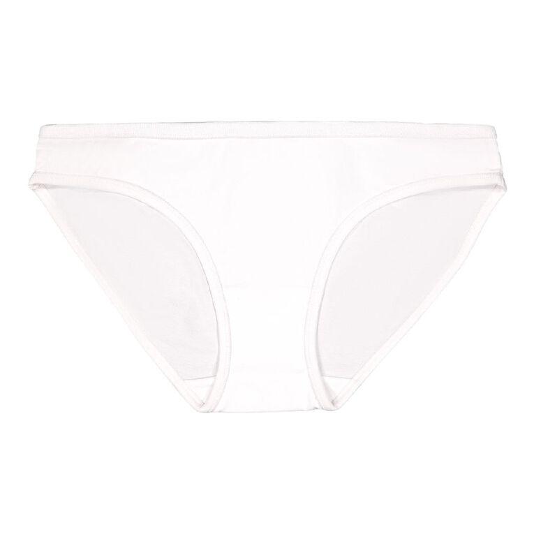 H&H Women's Cotton Comfort Bikini Brief, White, hi-res
