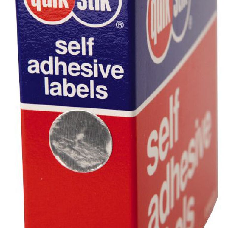 Quik Stik Labels Dots Mc14 650 Pack Silver, , hi-res