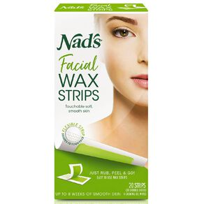 Nads Facial Hair Removal Strip 20 Pack