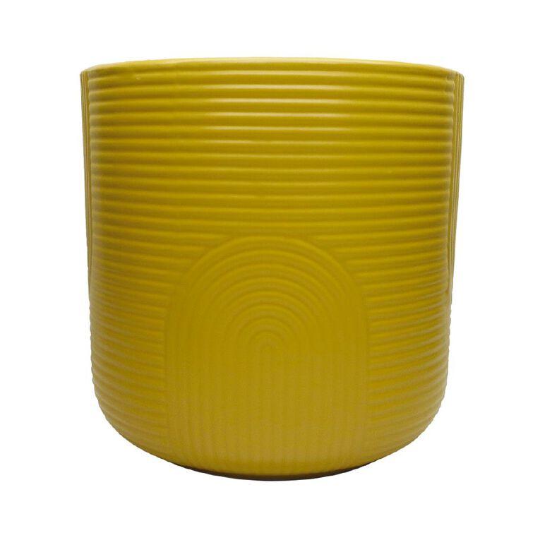 Kiwi Garden Patterned Ceramic Pot Yellow 18cm, , hi-res