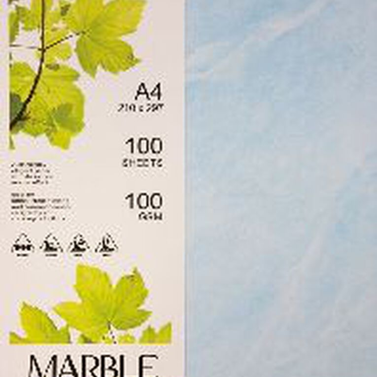 Direct Paper Marble Paper 100gsm 100 Pack Blue A4, , hi-res image number null