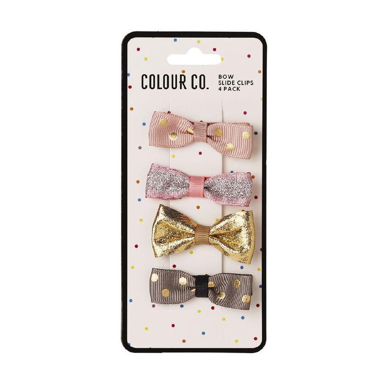 Colour Co. Bow Slide Clips 4 Pack, , hi-res