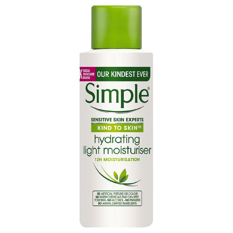 Simple Kind To Skin Mini Hydrating Light Moisturiser 50ml, , hi-res