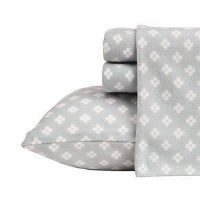 Living & Co Sheet Set Polar Flannel Printed Diamonds Grey