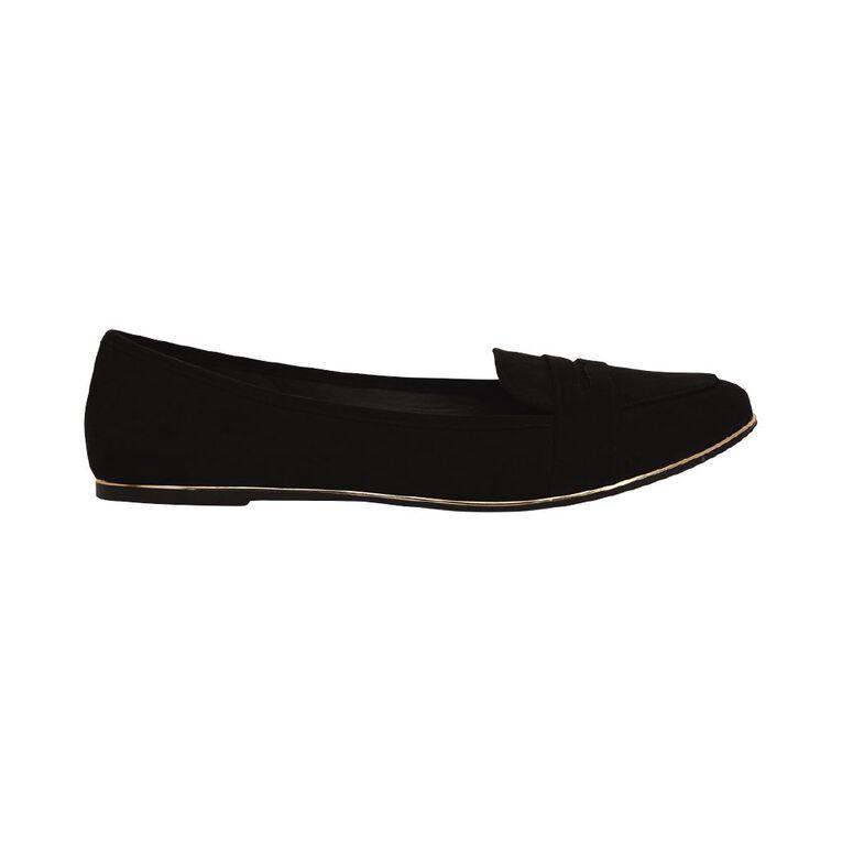 H&H Women's Varshi Ballet Shoes, Black, hi-res image number null