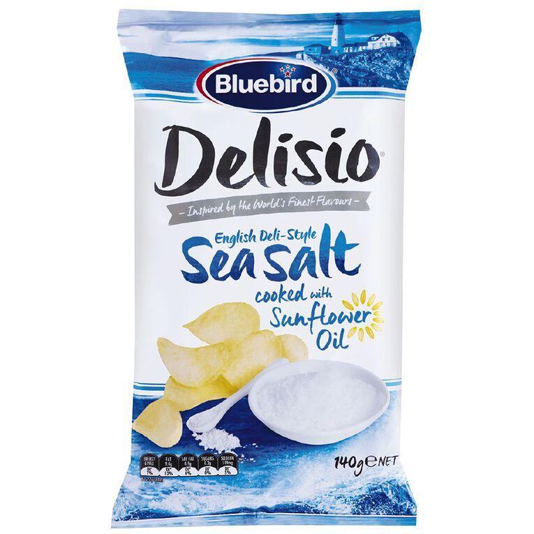 Delisio Fine Sea Salt 140g, , hi-res
