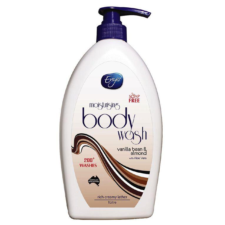 Enya Body Wash Vanilla & Almond 1L, , hi-res
