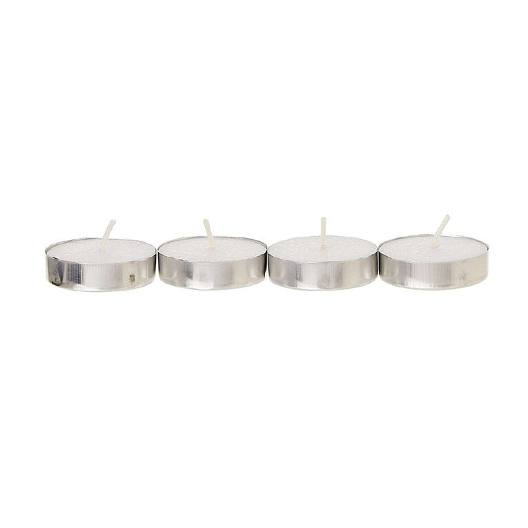 Living & Co Unscented Tealight Candles White 100 Pack, , hi-res