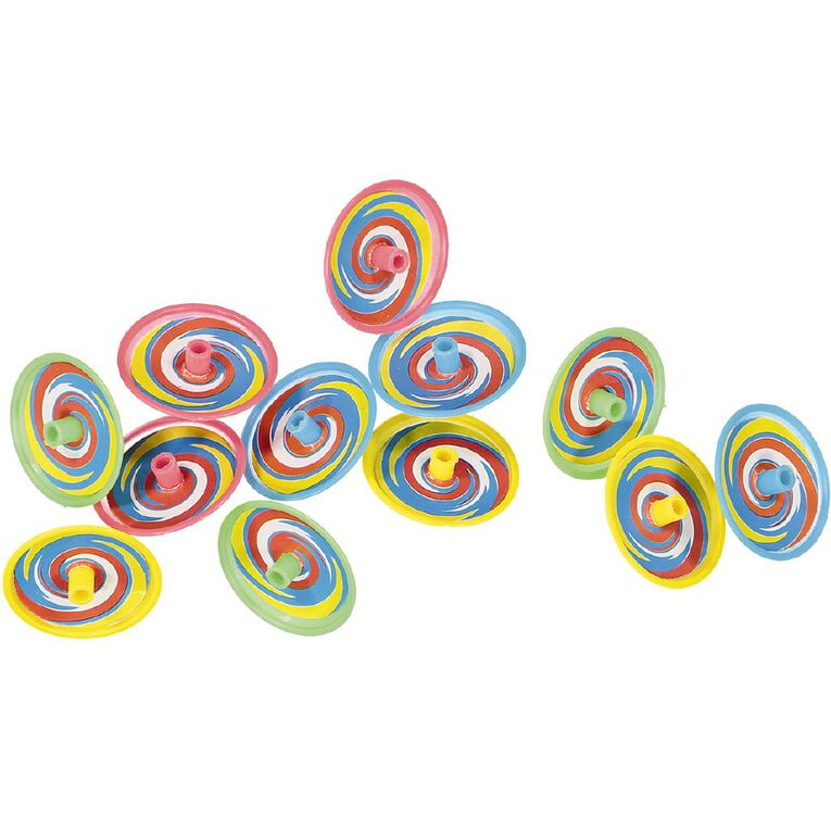 Party Inc Party Favours Spinning Top 12 Pack, , hi-res