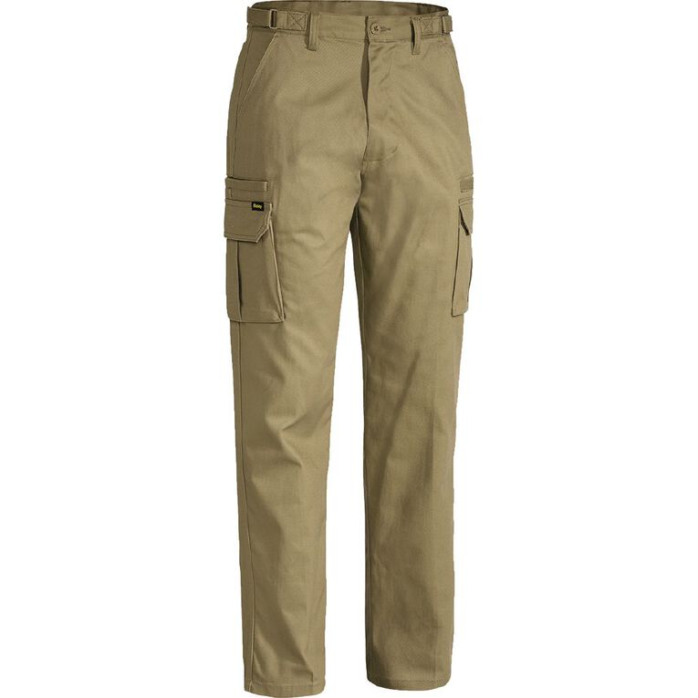 Bisley Workwear Cargo Pants, Khaki, hi-res