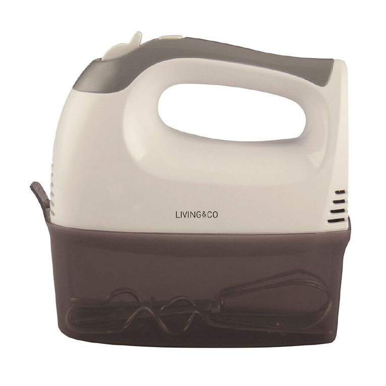 Living & Co Mixer 5 Speed with Container 300w Grey, , hi-res