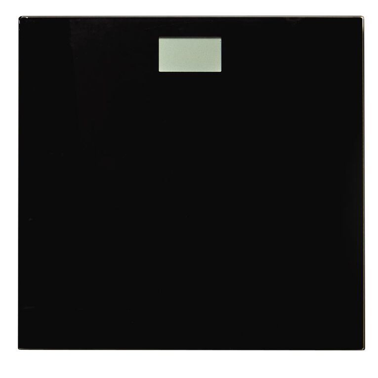 Living & Co Bathroom Scale Digital Black 28cm, Black, hi-res