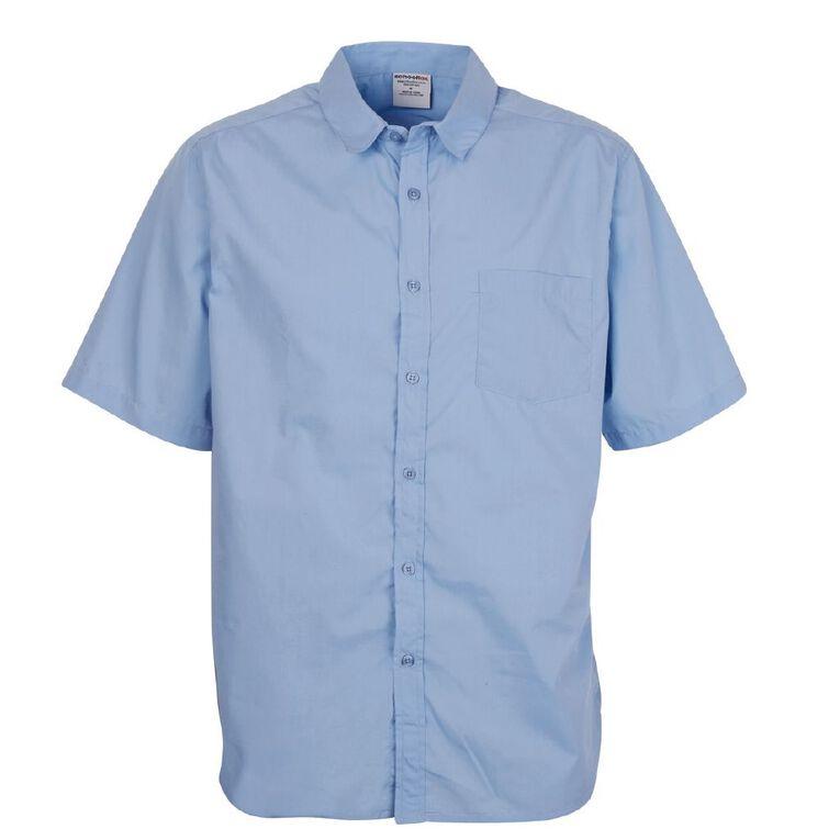 Schooltex Men's Short Sleeve Shirt, Blue, hi-res