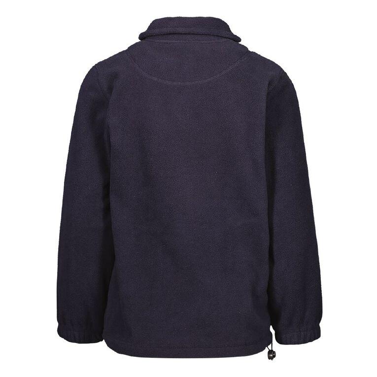 Schooltex TKKM O Hoani Waititi Polar Fleece Top with Embroidery, Navy, hi-res