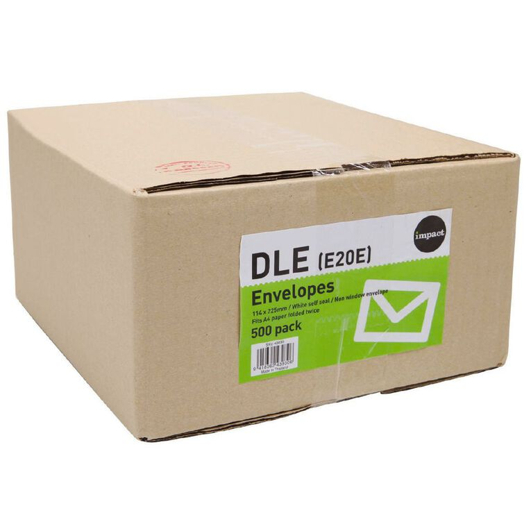 WS Envelope DLE Non Window Seal 500 Pack, , hi-res