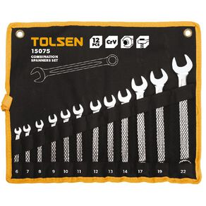 Tolsen 12 Piece Combination Spanner Set
