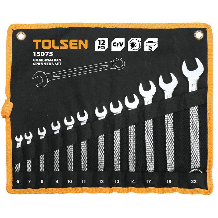 Tolsen 12 Piece Combination Spanner Set, , hi-res