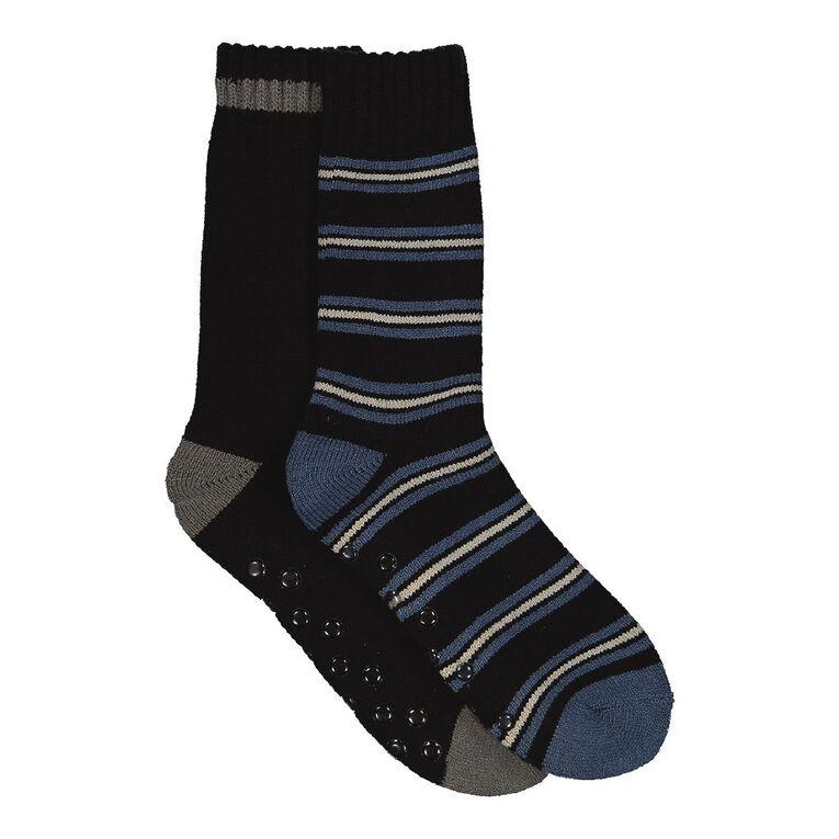 H&H Men's Lodge Socks 2 Pack, Blue, hi-res