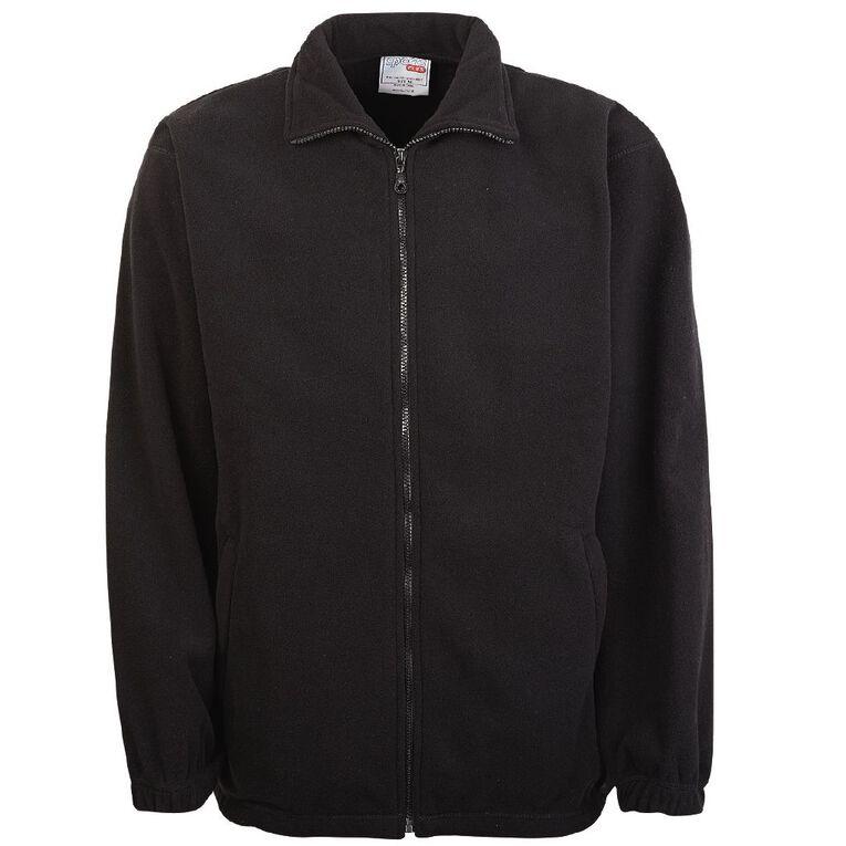 Schooltex Full Zip Polar Fleece Jacket, Black, hi-res