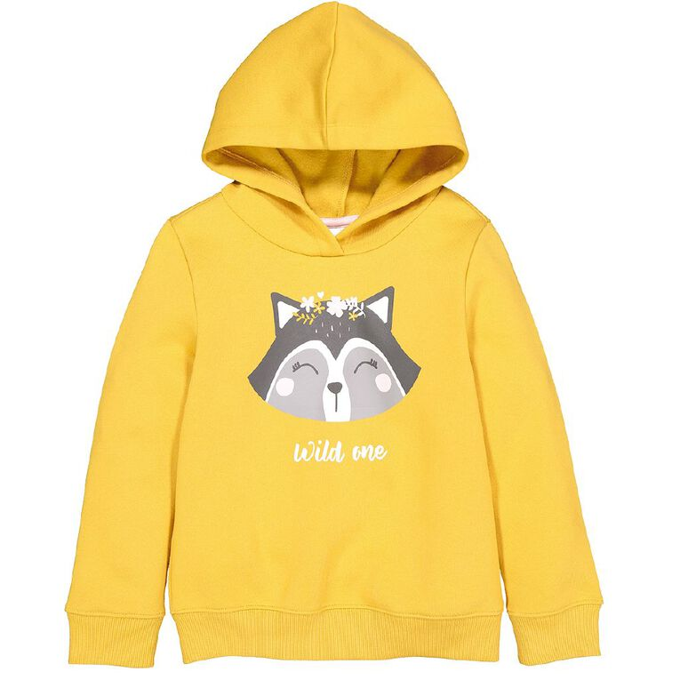 Young Original Pullover Hood Print Sweatshirt, Yellow Dark, hi-res image number null
