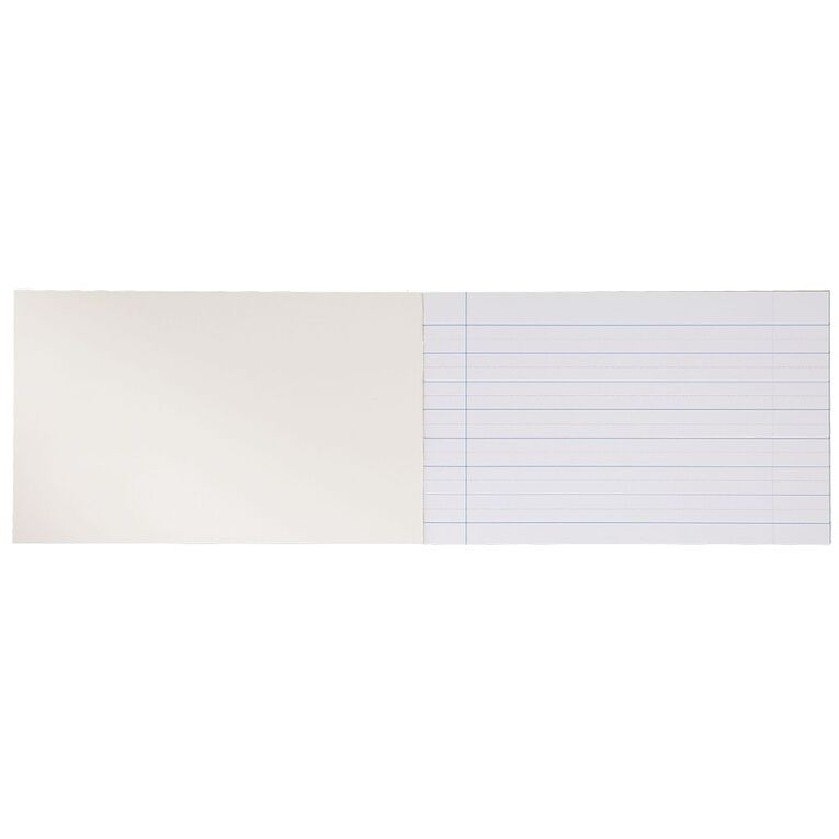 WS Exercise Book 1B2 7mm/14mm Ruled 24 leaf Red, , hi-res
