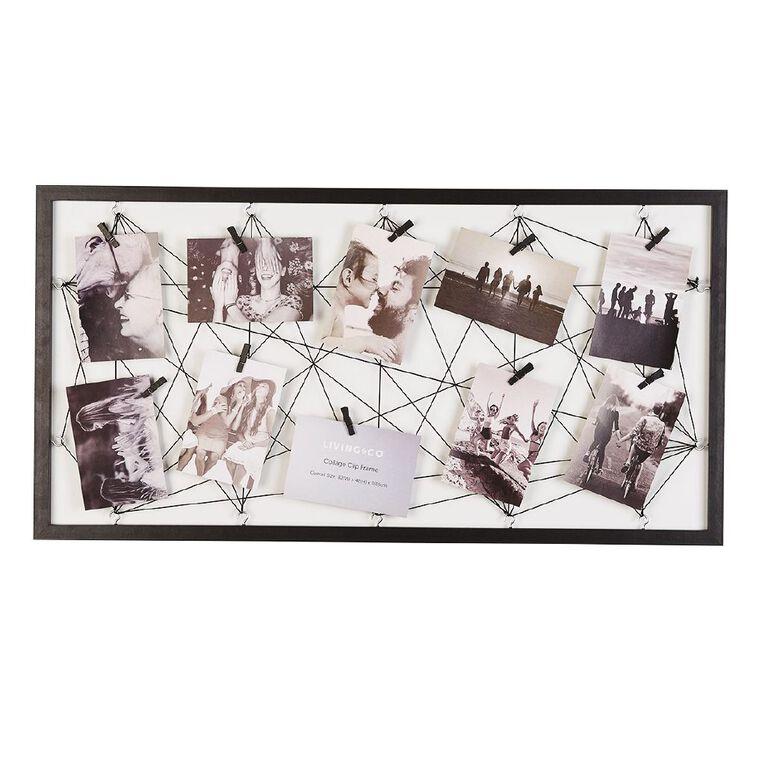 Living & Co Collage Clip Frame Black, , hi-res