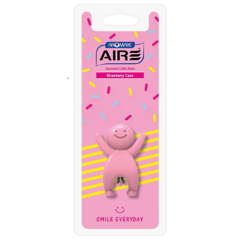 Aromate Air Strawberry Cake Scented Little Man Auto Air Freshener, , hi-res