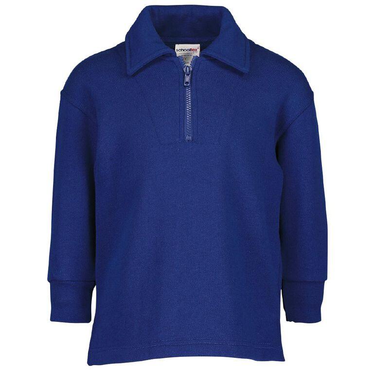 Schooltex Kids' Zip Fleece Tunic, Royal, hi-res