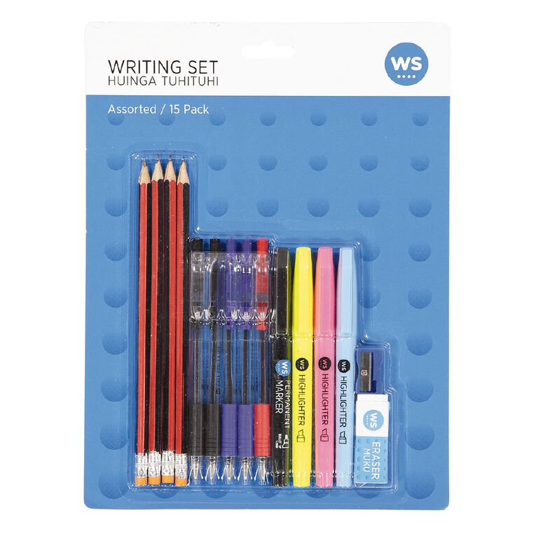 WS Writing Pack Assorted 15pack, , hi-res