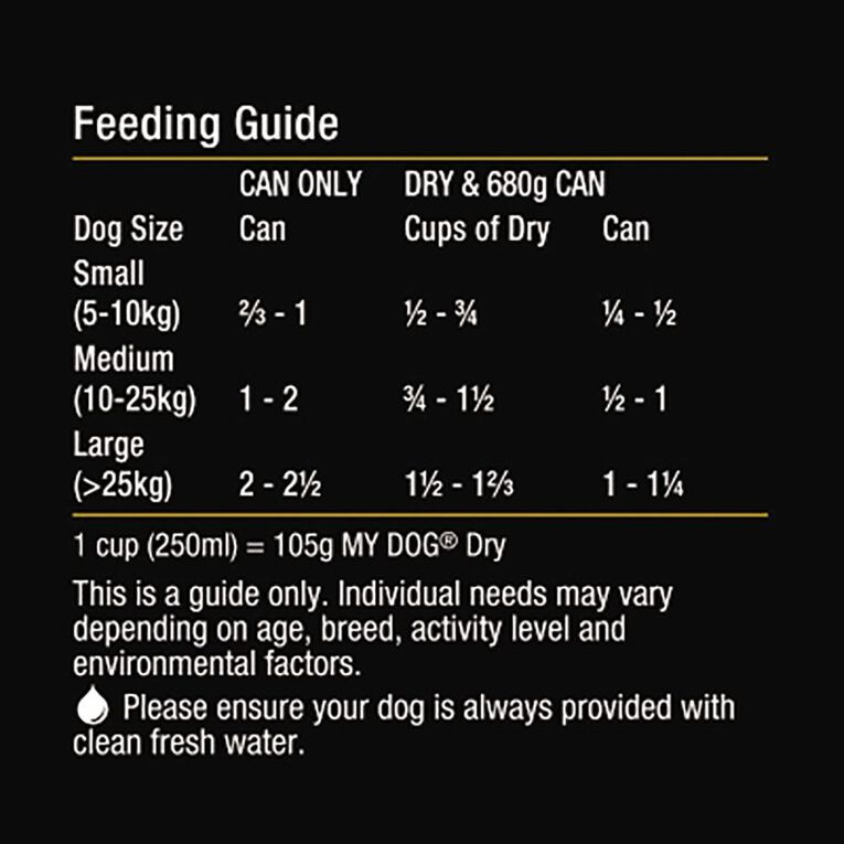 My Dog Wet Dog Food Prime Beef & Veal  680g Can, , hi-res