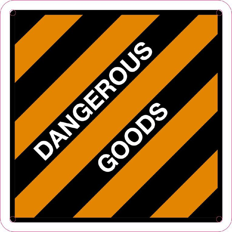 WS Dangerous Goods Sign Small 300mm x 300mm, , hi-res