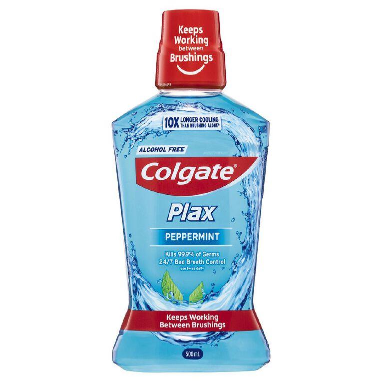 Colgate Plax Mouthwash Peppermint 500ml, , hi-res