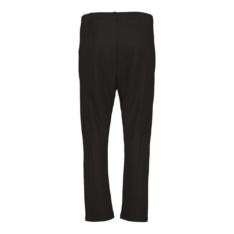 H&H Plus Women's Ponte Work Pant, Black, hi-res