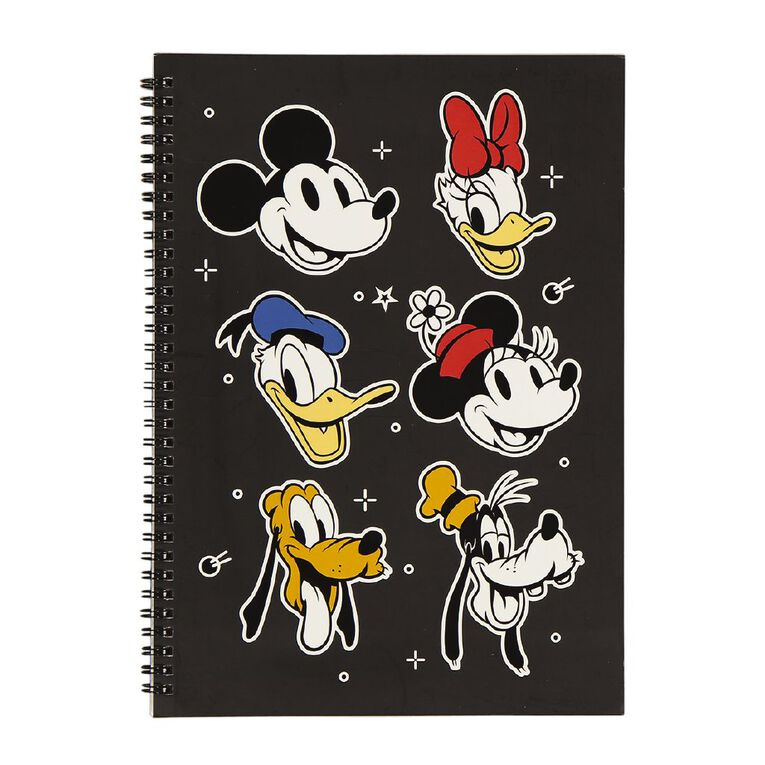 Mickey Mouse Notebook Black A4, , hi-res
