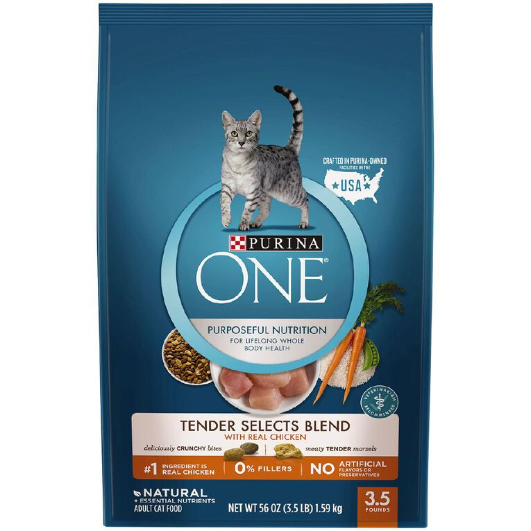 Purina One Cat Tender Select Blend With Chicken 1.59kg, , hi-res