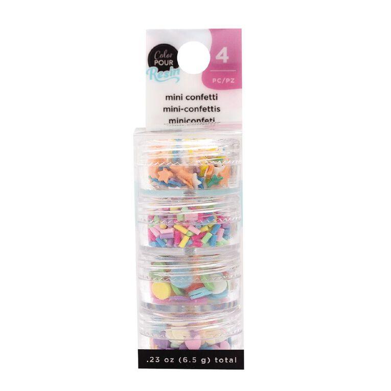 American Crafts Color Pour Mix-Ins  Mini Confetti Bright 4 Pack, , hi-res