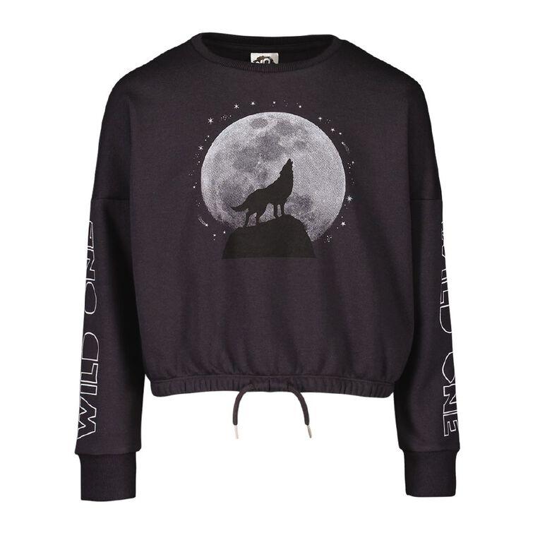 Young Original Elastic Waist Crew Sweatshirt, Grey Dark, hi-res