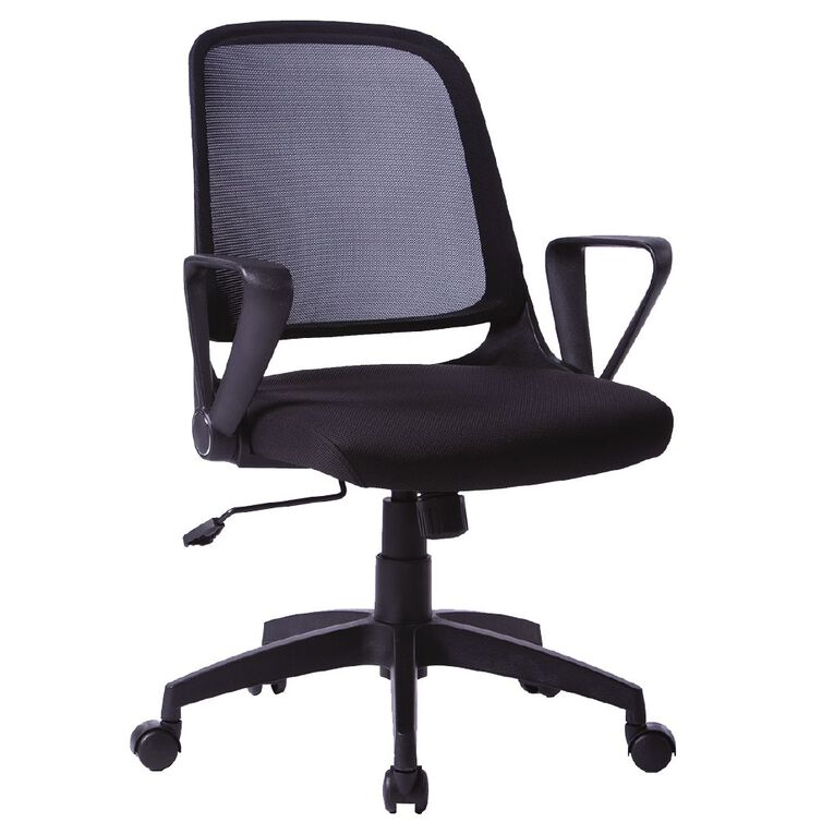 Workspace Piper Office Chair Black, , hi-res