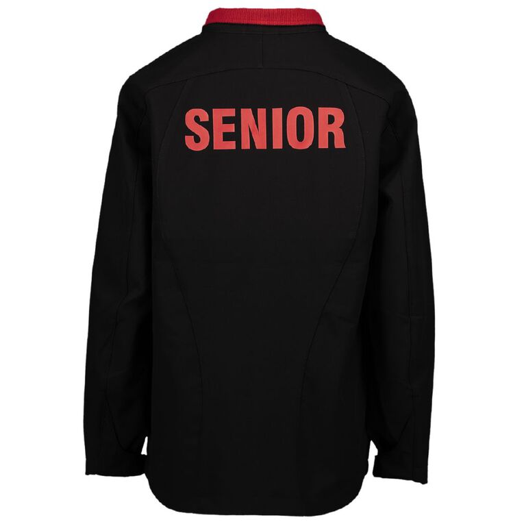 Schooltex Marshland Senior Jacket with Embroidery and Transfer, Black/Red, hi-res