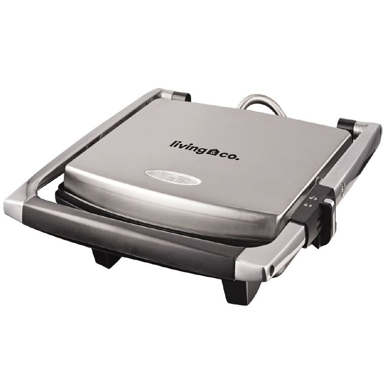 Living & Co Sandwich Press 4 Slice Stainless Steel, , hi-res