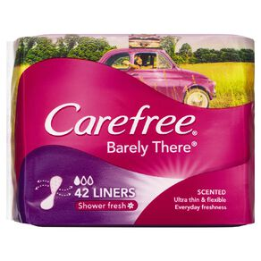 Carefree Barely There Scented Liners 42 Pack