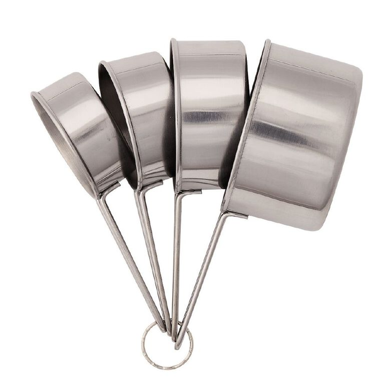 Living & Co Stainless Steel Measuring Cups 4 Piece, , hi-res