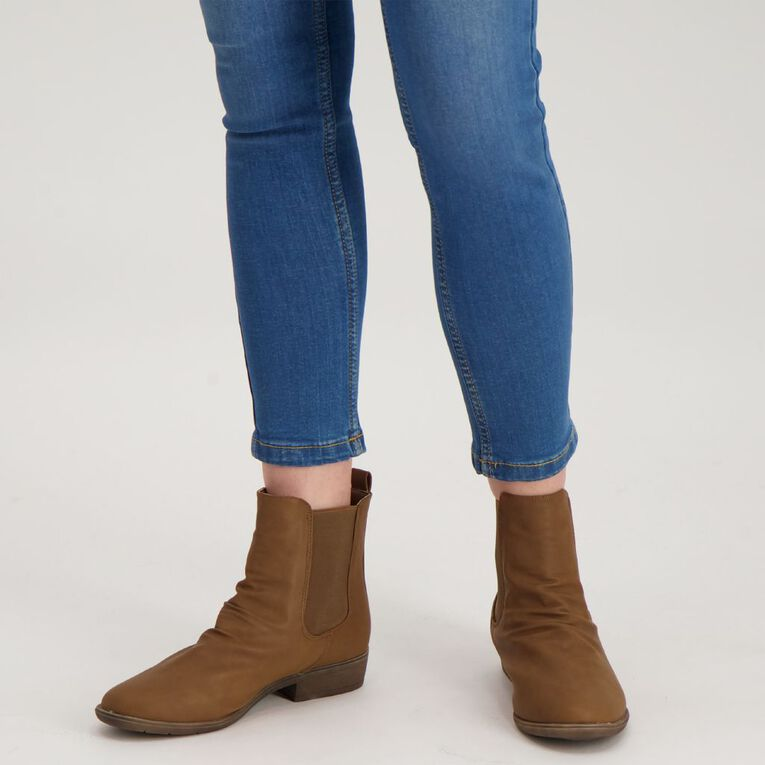 H&H Crinkle Ankle Boots, Tan, hi-res