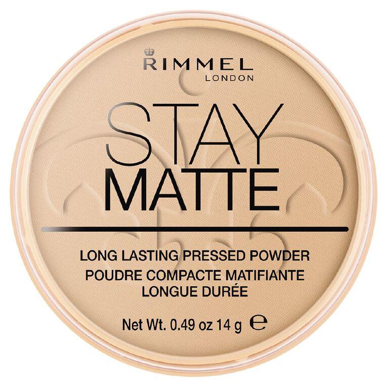 Rimmel Stay Matte Pressed Powder Sand, , hi-res