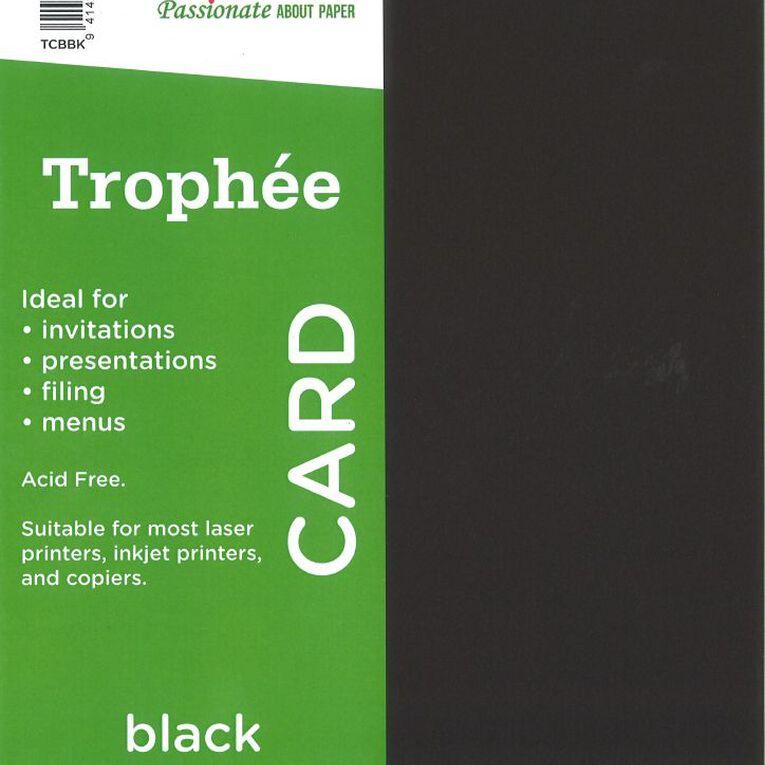 Trophee Card 160gsm 100 Pack Black A4, , hi-res