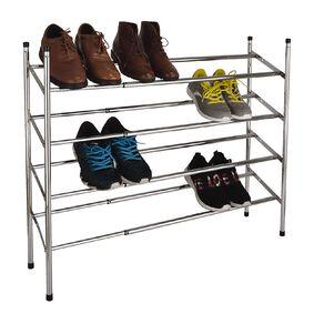 Living & Co 4 Tier Metal Extendable & Stackable Shoe Rack
