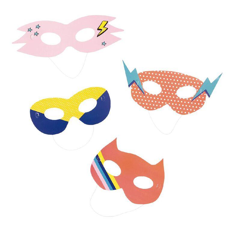 Party Inc Superhero Masks 4 Pack, , hi-res