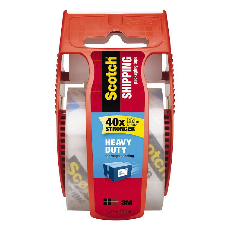 Scotch Packaging Tape Heavy Duty With Dispenser 50.8mm x 20.3m, , hi-res