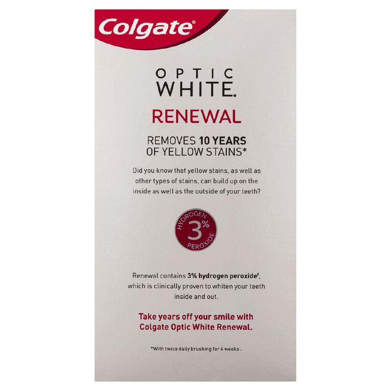 Colgate Optic White Toothpaste Renewal Lasting Fresh 85g, , hi-res
