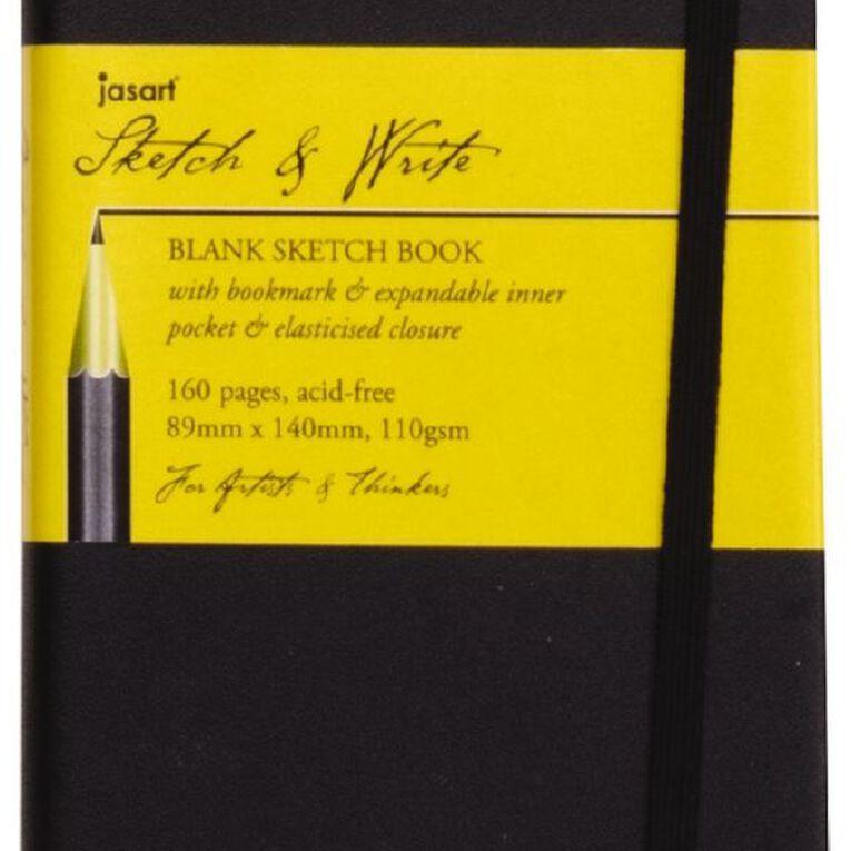 Jasart Sketch & Write Sketch Book Black A5, , hi-res